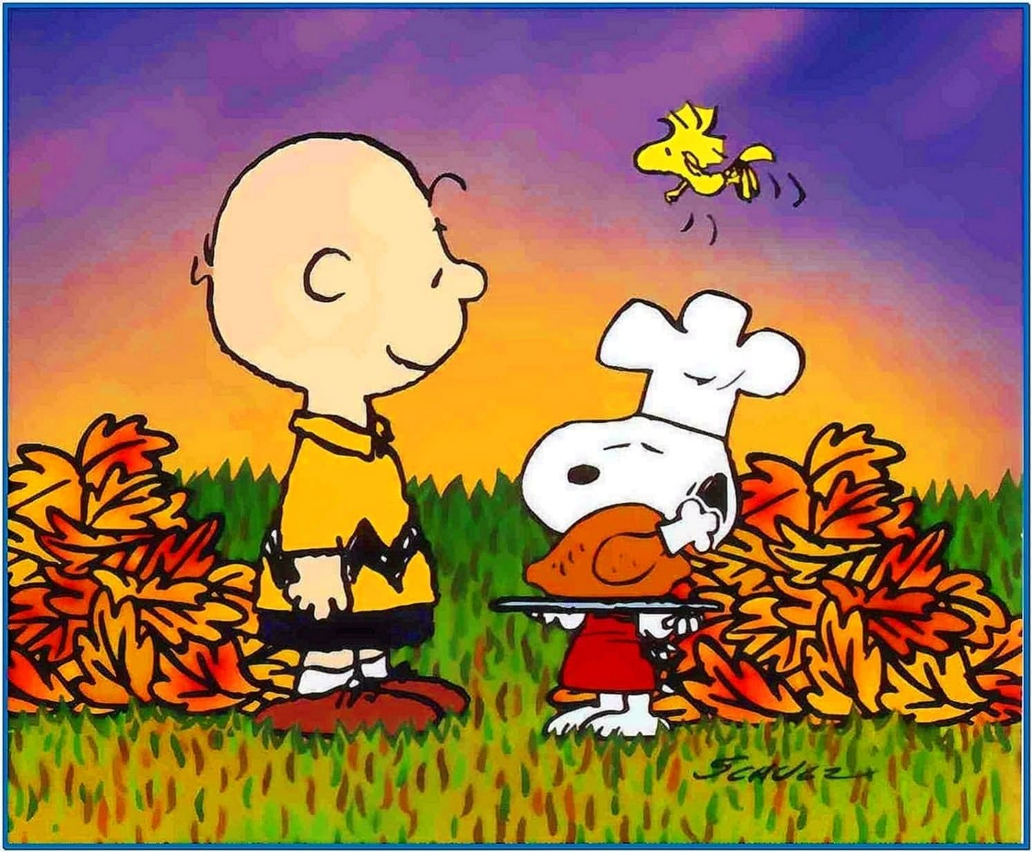 Charlie Brown Thanksgiving Screensavers Wallpaper