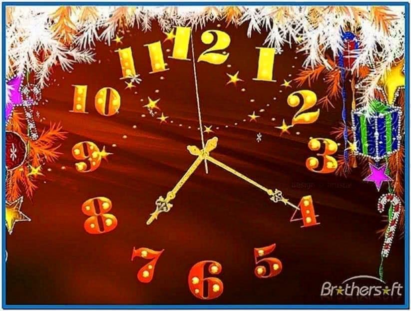Christmas clock screensaver Mac