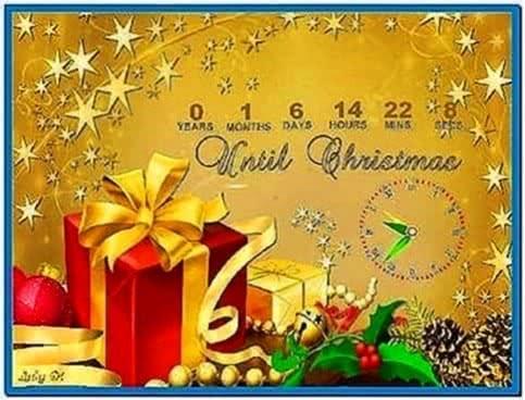 Christmas countdown clock screensaver