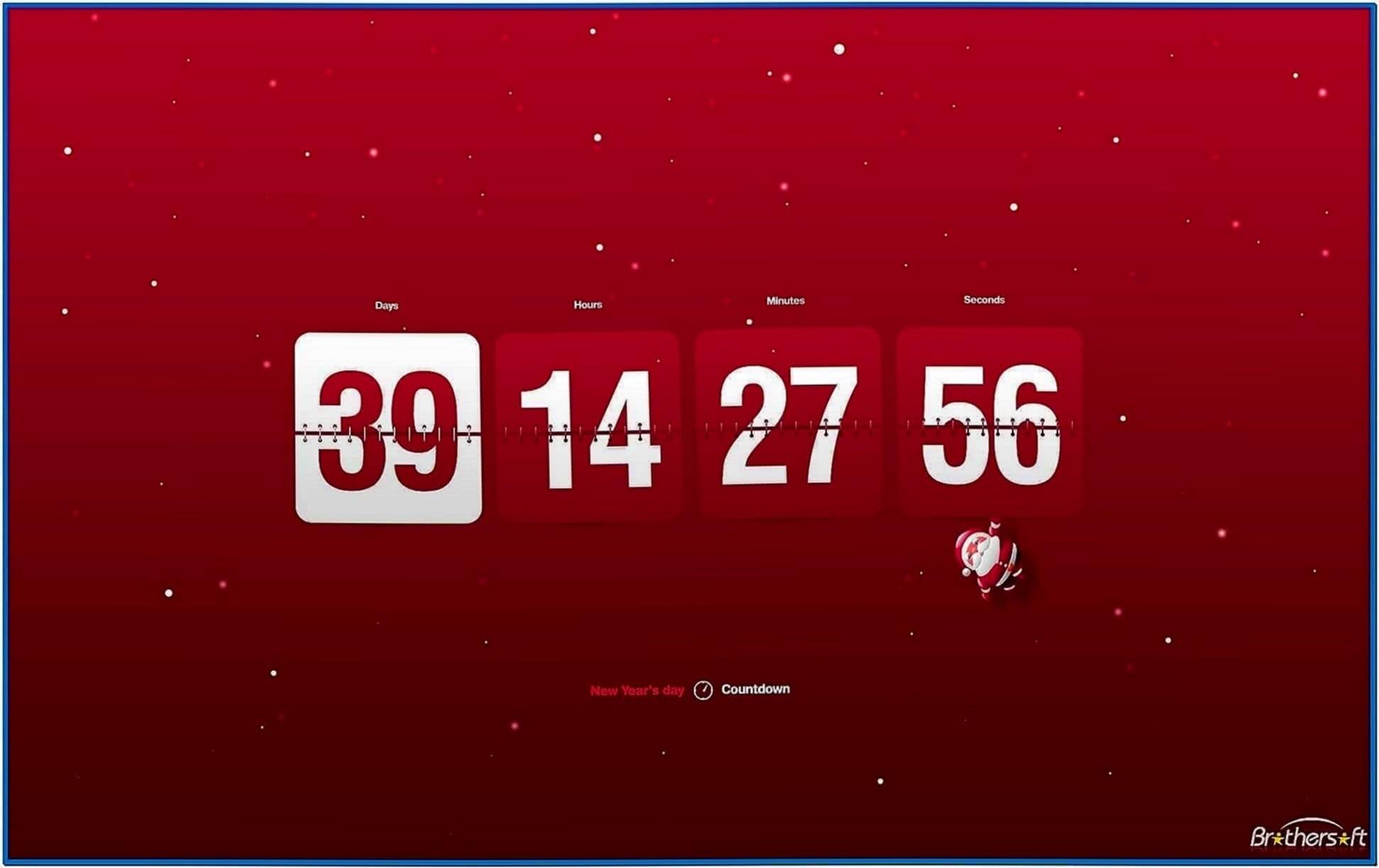 Christmas countdown clock screensaver - Download free