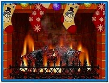 Christmas Fireplace 3D Screensaver Software