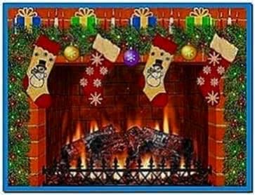 Christmas fireplace screensaver with sound - Download free