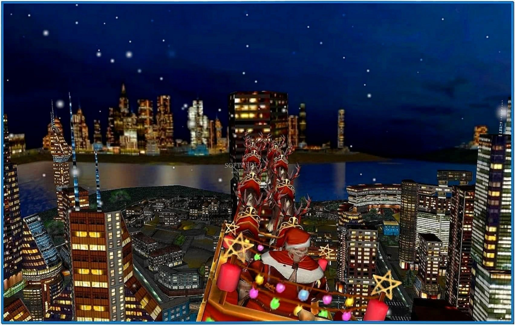 Christmas in the city screensaver animated