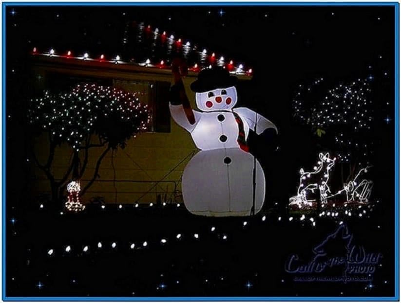 Christmas Lights for Desktop Screensaver