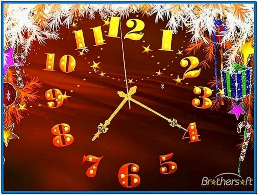 Christmas Promise Clock Screensaver