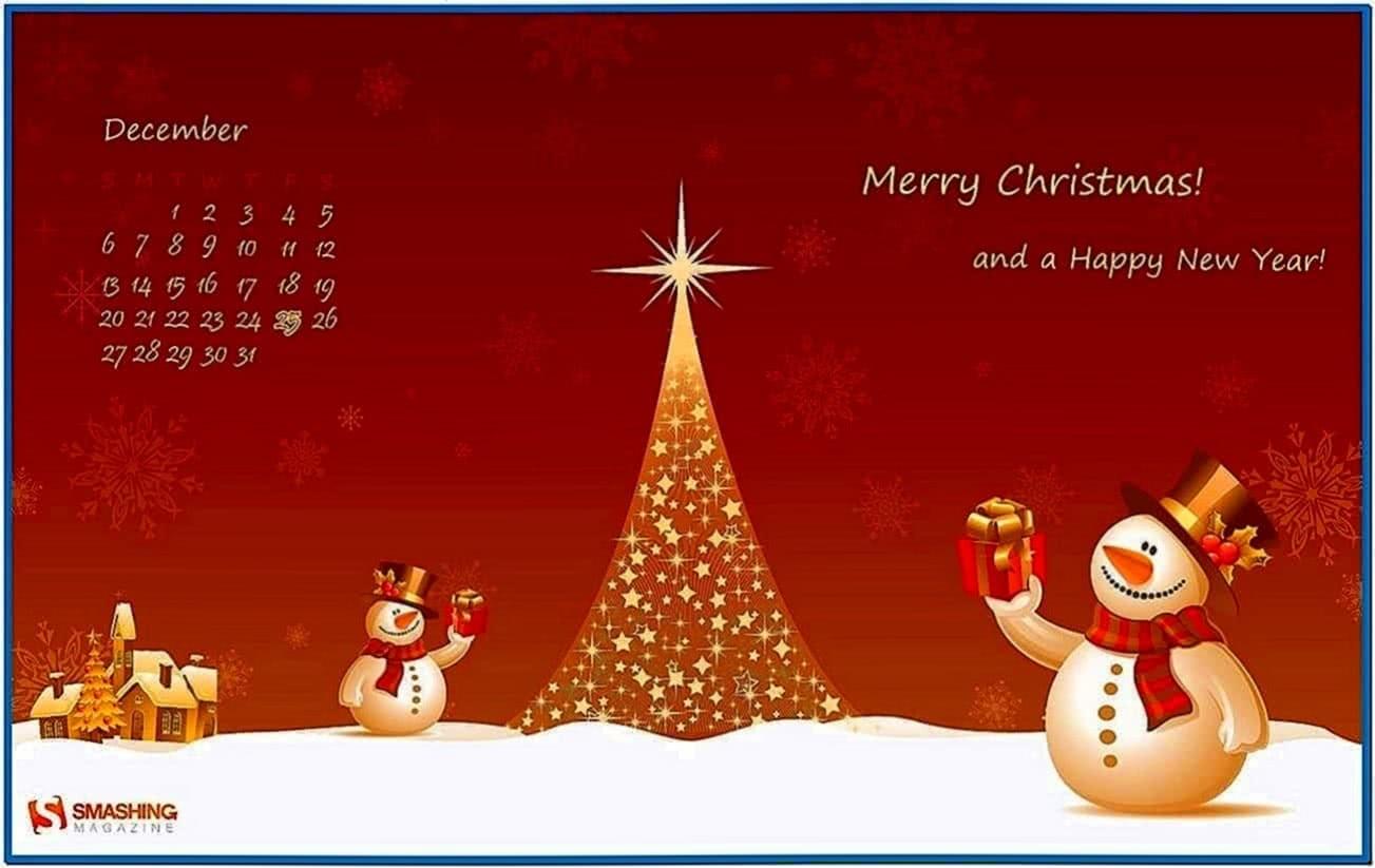 Christmas screensaver desktop themes - Download free