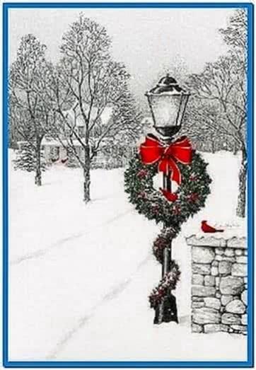 Christmas Screensavers Falling Snow