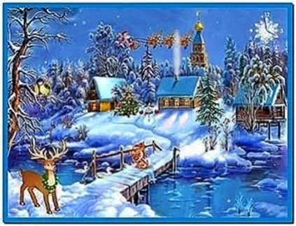 Christmas screensavers with music download free