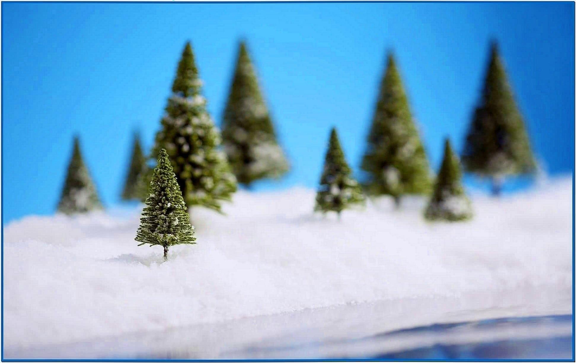 Christmas snow scenes screensavers snow