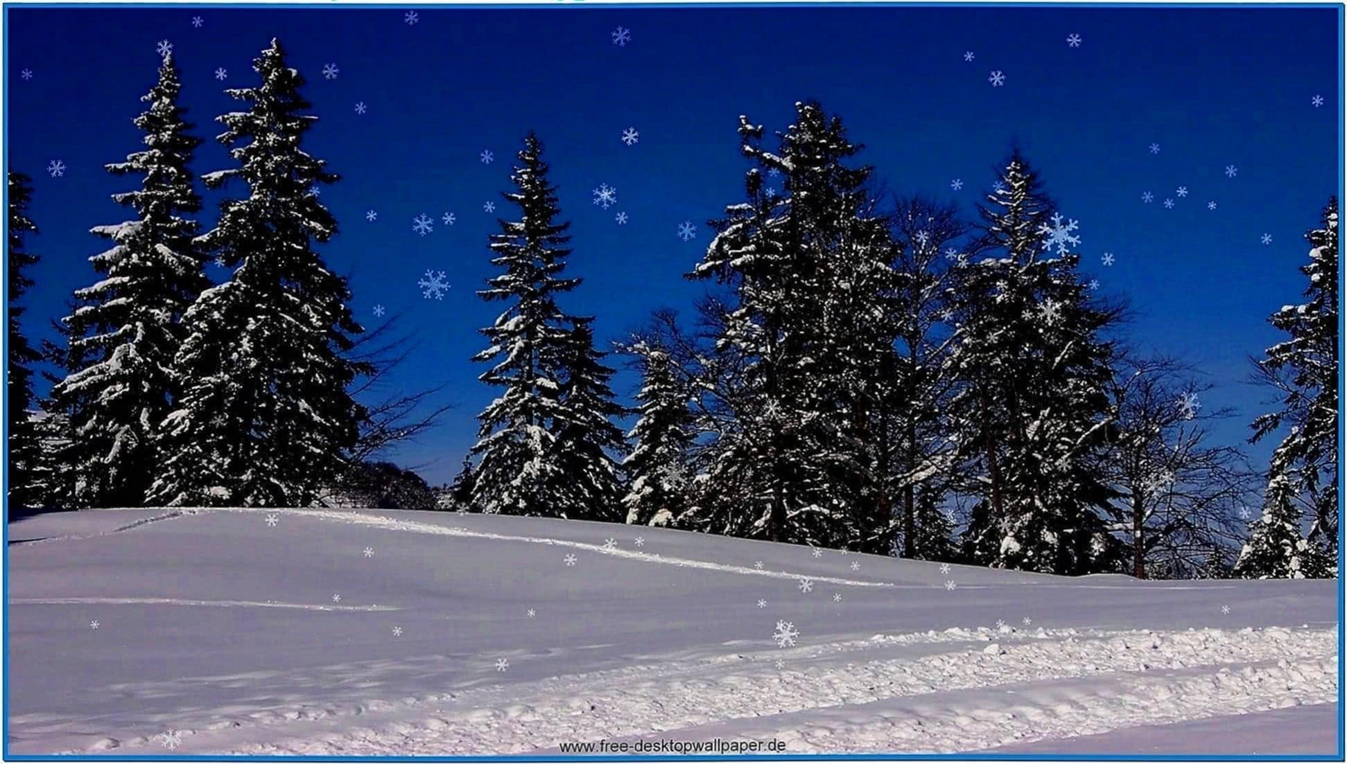 Christmas snow screensaver 02 - Download free