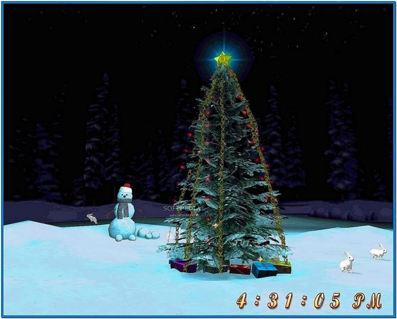 Christmas Tree 3D Screensaver Full