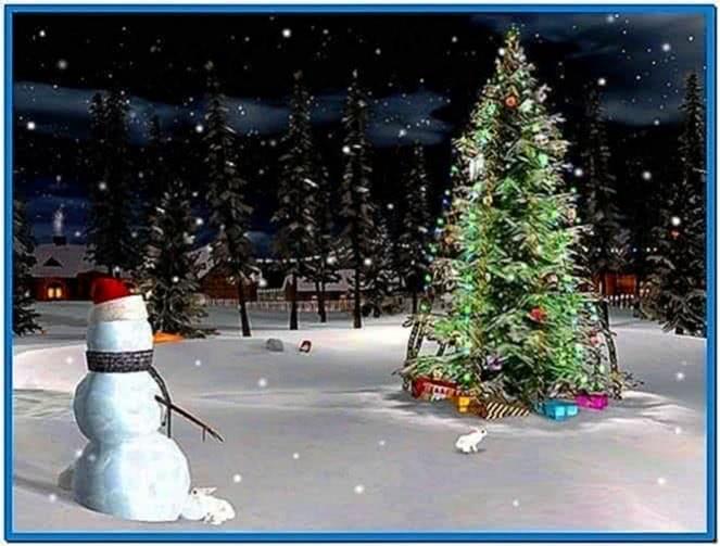 Christmas tree screensaver animation