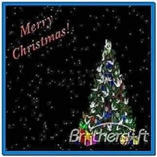 Christmas Tree Screensaver Falling Snow Download Free