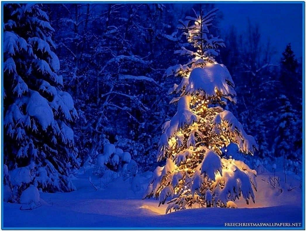 Christmas Tree Snow Screensaver