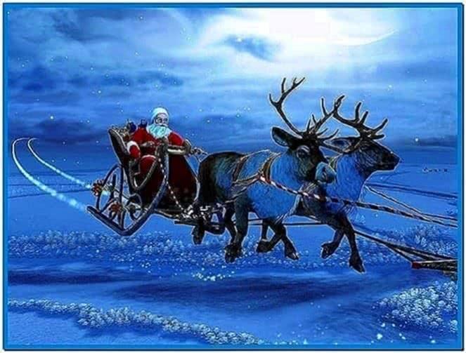 Christmas wallpapers and screensavers santa claus - Download free