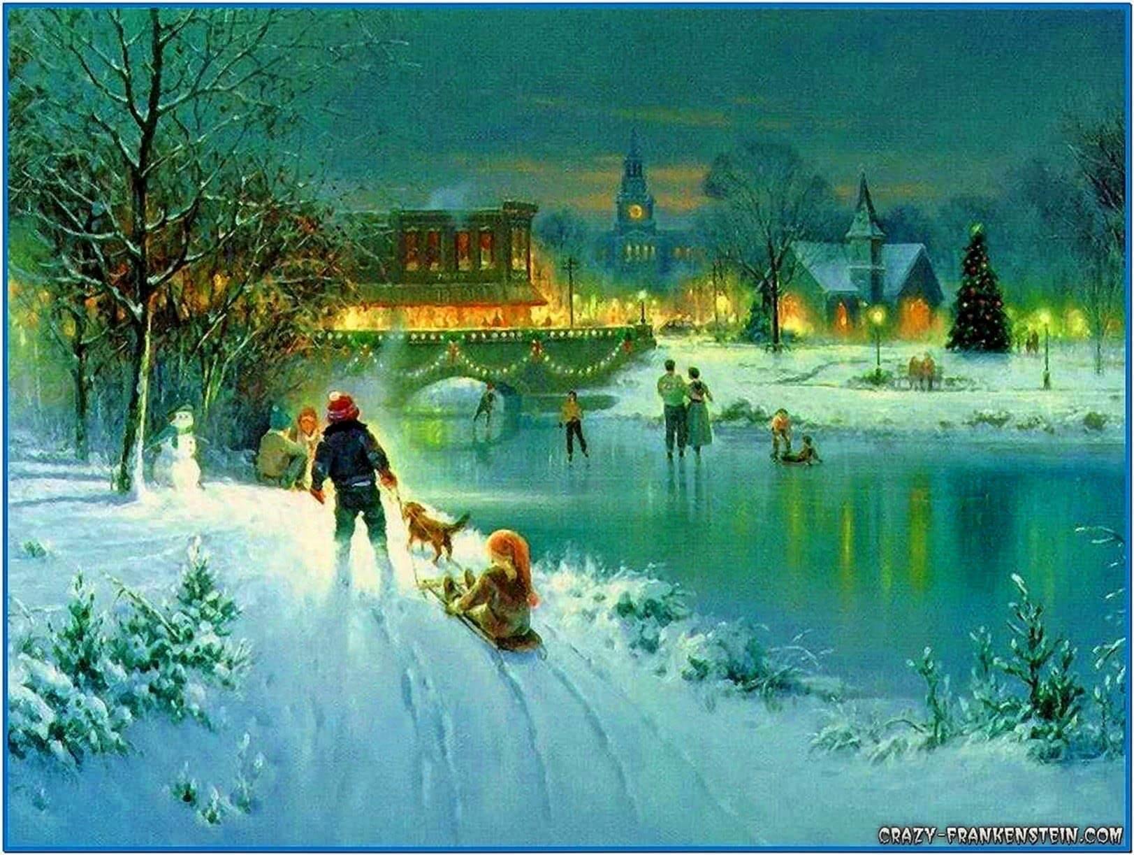 Christmas winter scenes screensavers - Download free