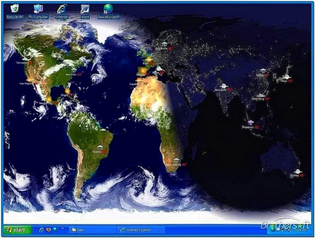 Cities of Earth Screensaver Mac