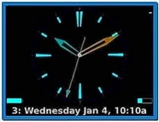 Clock Screensaver for Blackberry