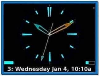 Clock Screensaver for Blackberry