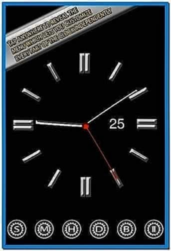 clock screensaver for iphone 3gs download free