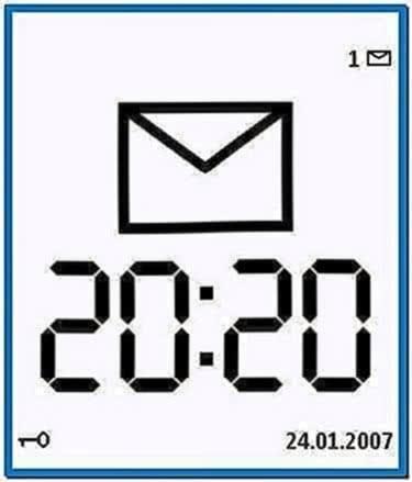 Clock screensaver for Nokia 5230