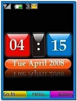 Clock Screensaver for Nokia 6233