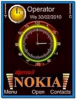 Clock Screensaver for Nokia C5-00