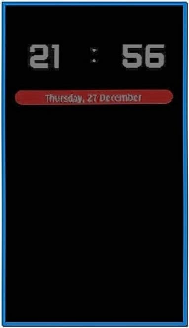 Clock Screensaver for Nokia C6-01