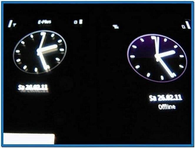 Clock Screensaver for Nokia C7