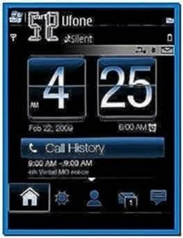 Clock screensaver for Nokia e50