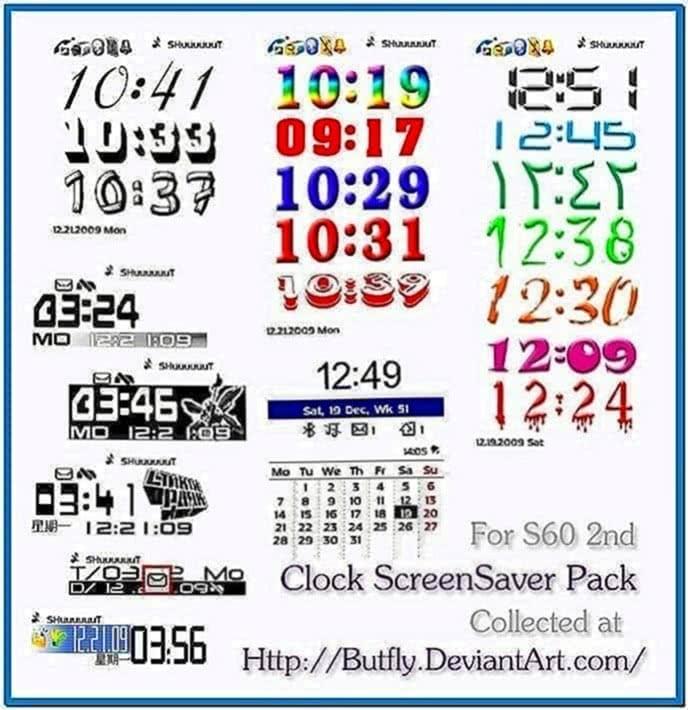 Clock Screensaver for Nokia N70