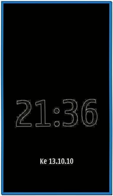 Clock Screensaver for Nokia N8