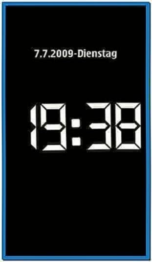 Clock Screensaver for Nokia N82