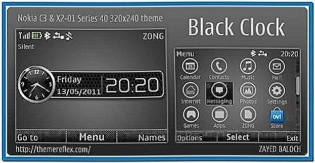 Clock screensaver for Nokia x2-01