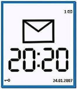 Clock screensaver for Symbian 9.3