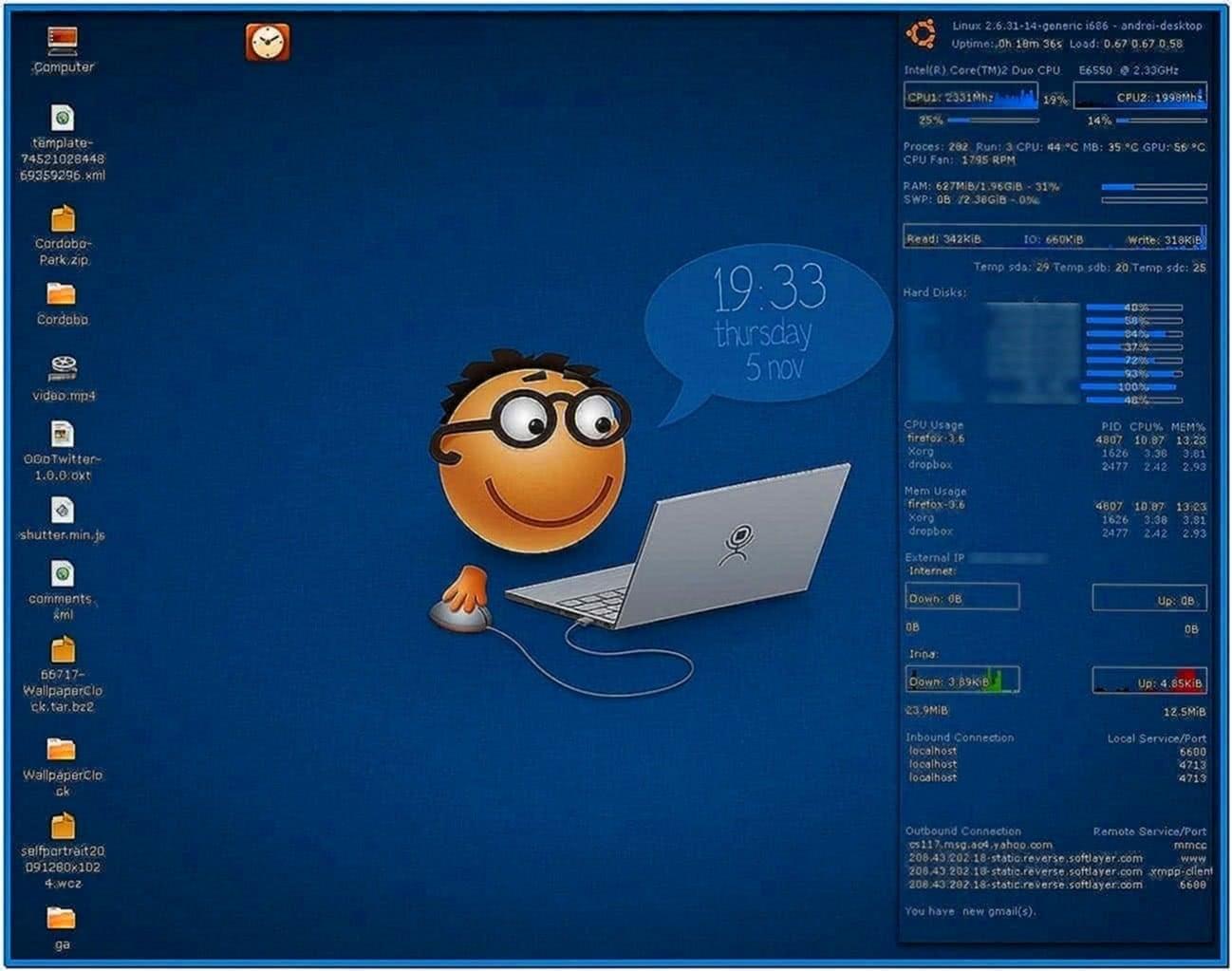 Group of Screensaver Ubuntu 10 13