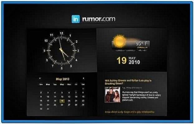 Clock Weather Screensaver Windows 7