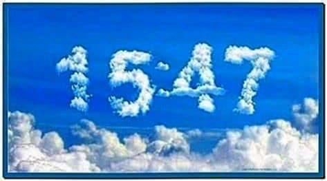 Cloud Digital Clock Screensaver