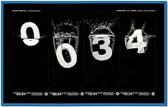 Cool Clock Screensaver Mac