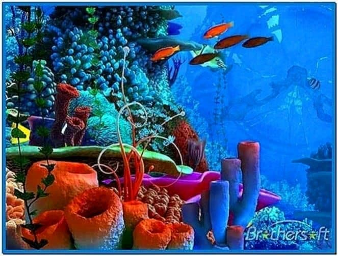 Coral clock 3D screensaver
