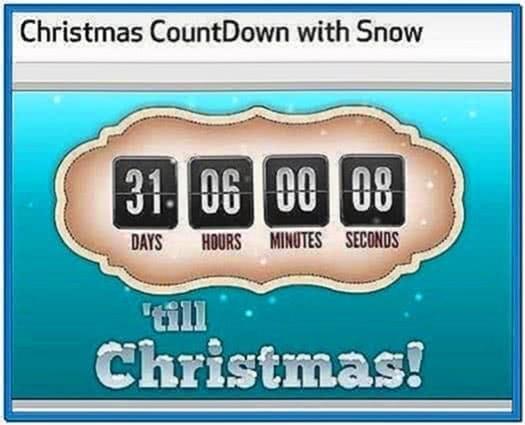 Countdown to Christmas Animated Screensaver