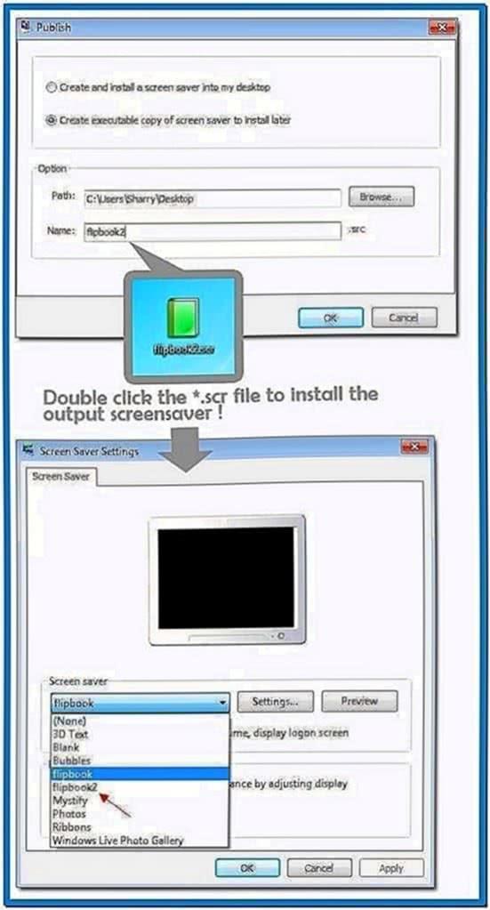 Create Screensaver Scr File