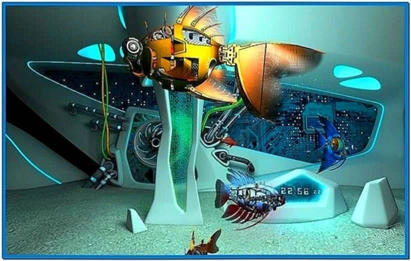 Cyberfish 3D Screensaver 1.0.2 Full