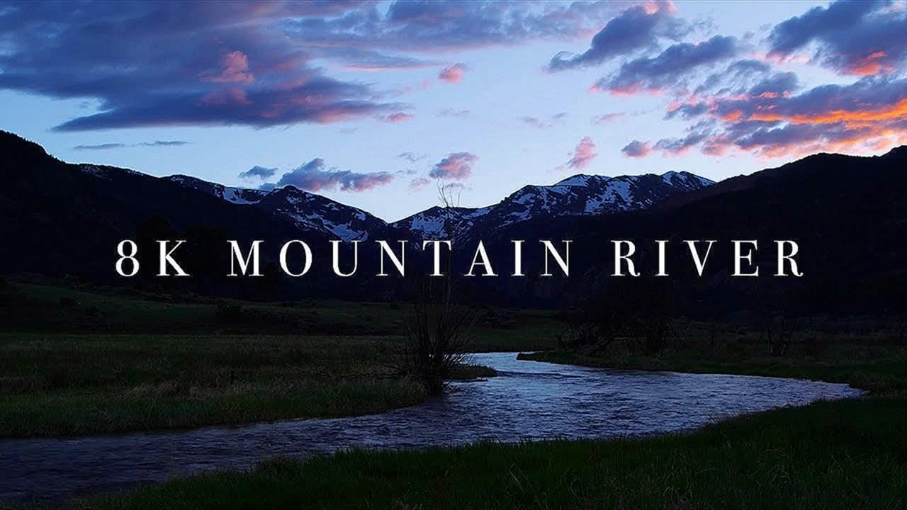 Mountain River 8K Screensaver - Rocky Mountains Colorado