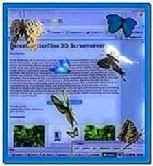 Desktop Butterflies 3D Screensaver Full