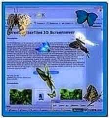 Desktop butterflies 3D screensaver full