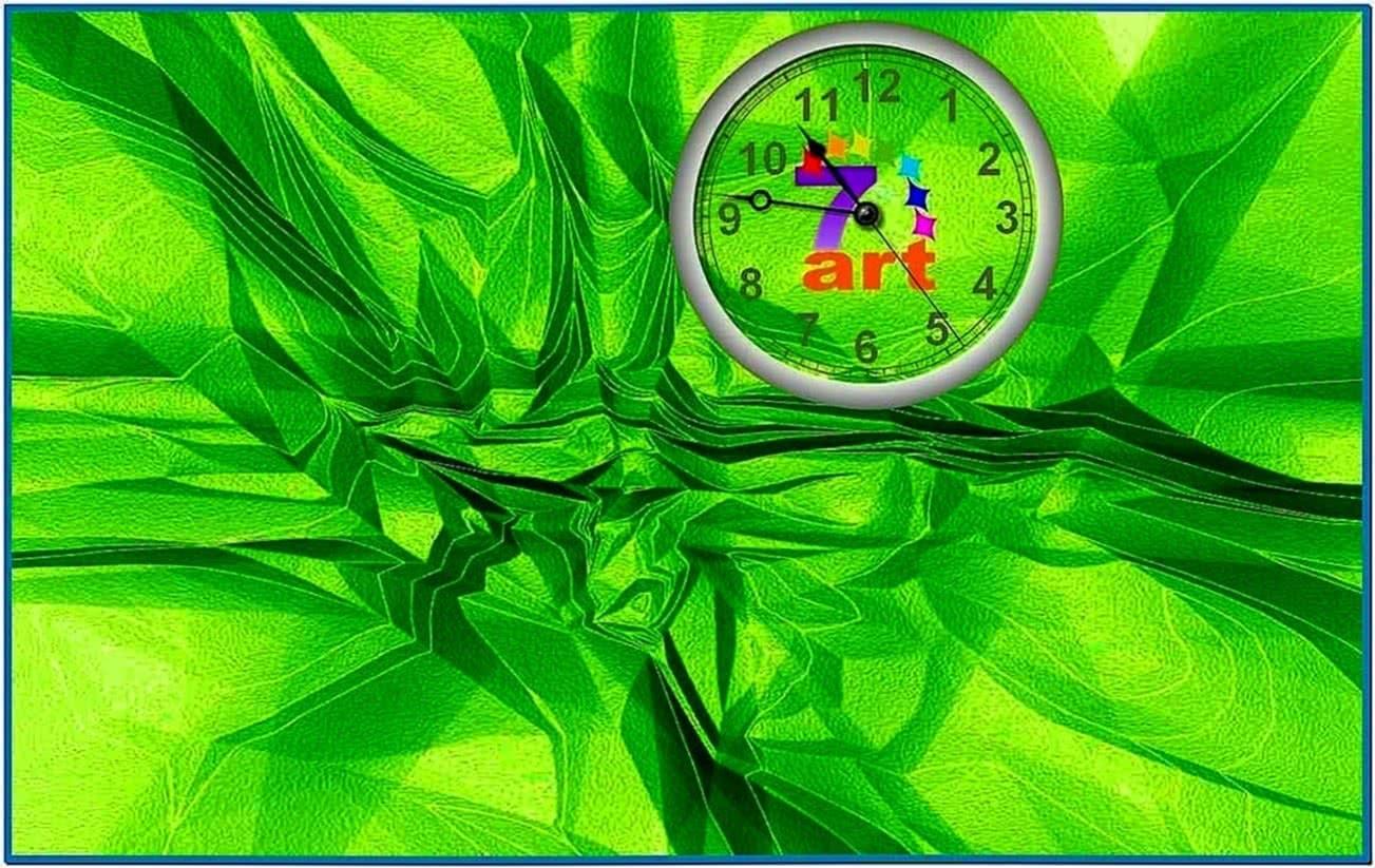 Desktop Clock Wallpaper Screensaver