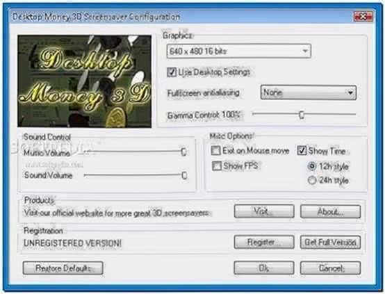 Desktop Money 3D Screensaver