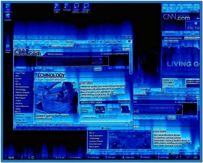 Desktop on Fire Screensaver