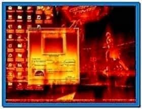 Desktop on Fire Screensaver Windows 7